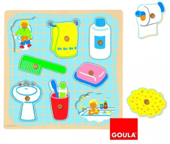 Goula vormenpuzzel in bad 8 stukjes