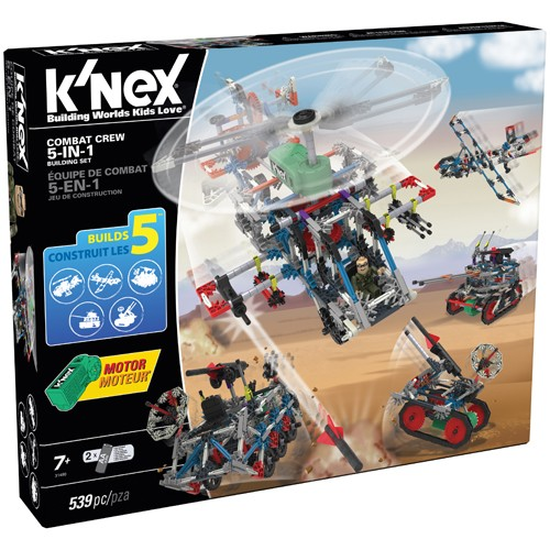 K'NEXKnex Combat Crew 5 - in - 1 building set