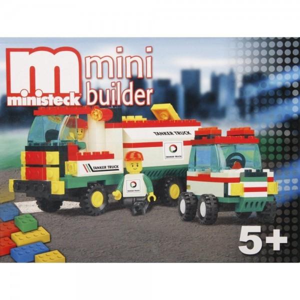 Ministeck bouwstenen tankwagen + auto Ministeck