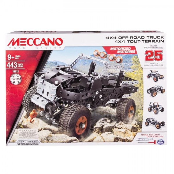 Meccano 4x4 truck 25 model set - Coffret coloriage cars leclerc ...