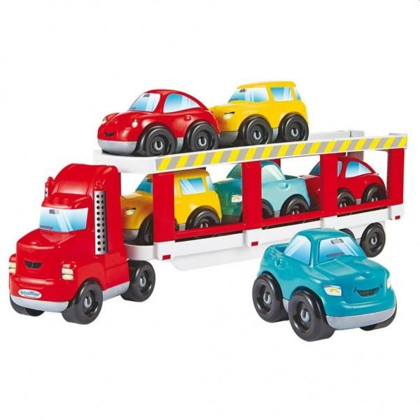Autotransporter met 6 Auto's Abrick
