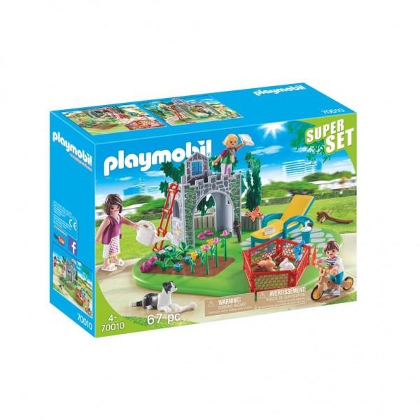 70010 Playmobil Superset Familietuin