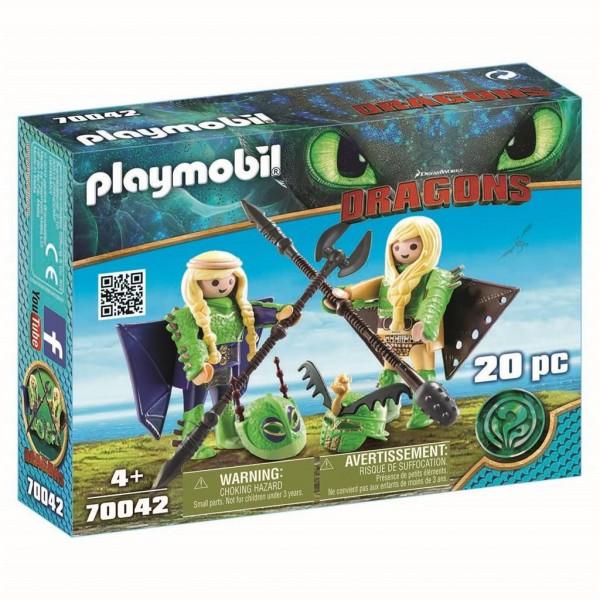 70042 Playmobil Dragons Schorrie en Morrie in vliegpak