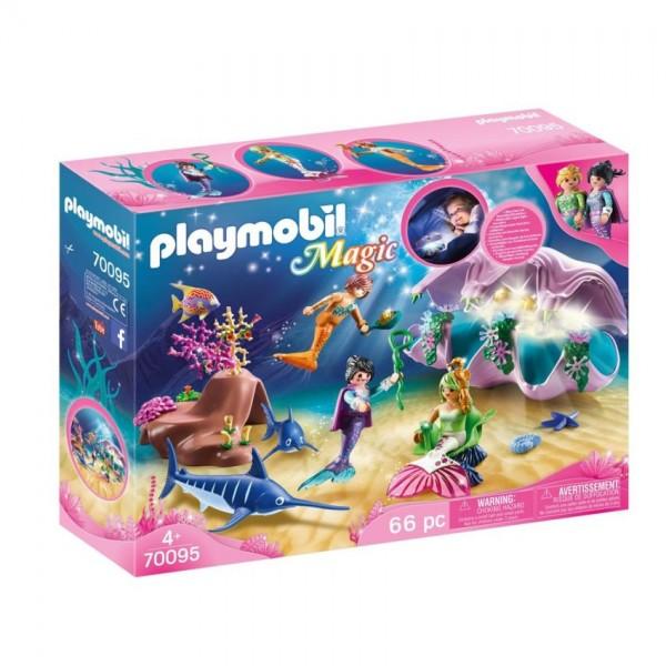 70095 Playmobil Nachtlamp in Schelp met Zeemeerminnen