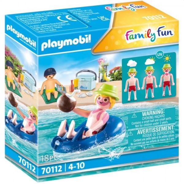 70112 Playmobil Badgast Met Zwembanden