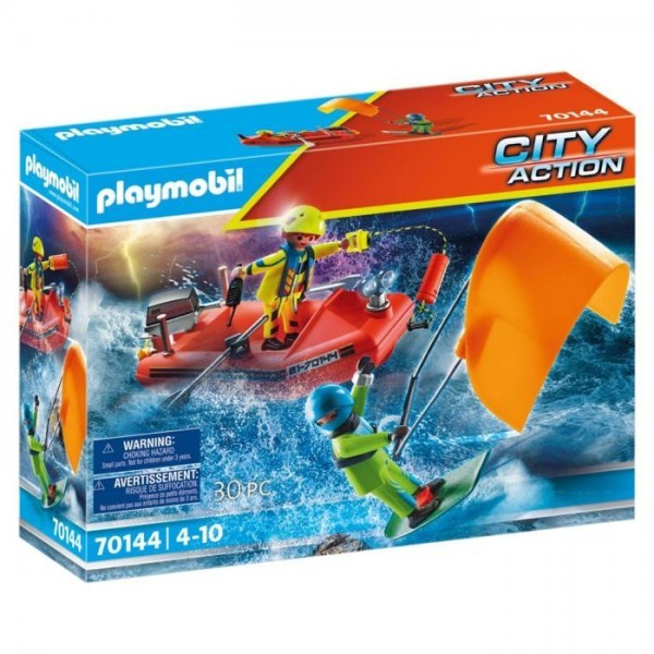 70144 Playmobil Redding Op Zee: Kitesurfersredding Met Boot
