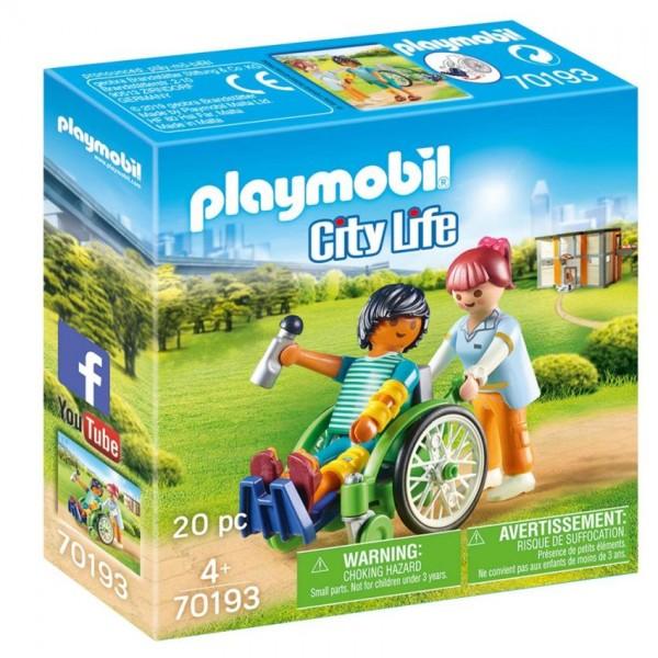70193 Playmobil Patiënt in Rolstoel