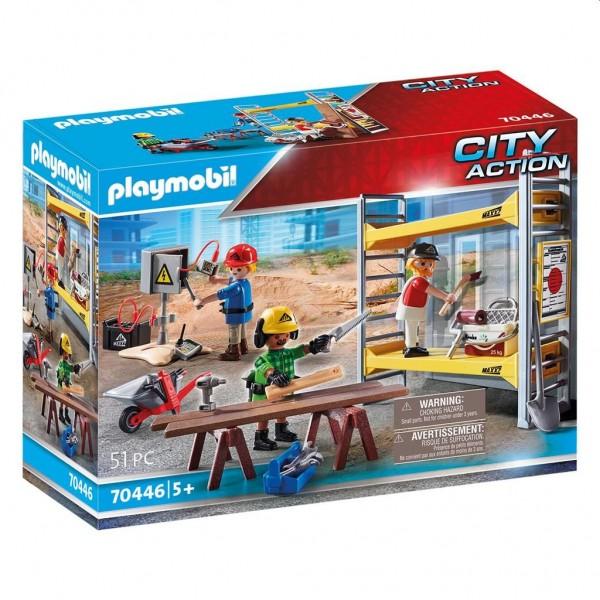 70446 Playmobil Stelling met Bouwvakkers