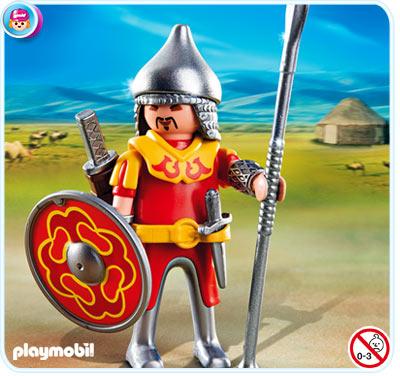 4745 playmobil mongolische strijder