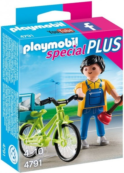 4791 Playmobil Klusjesman met Fiets