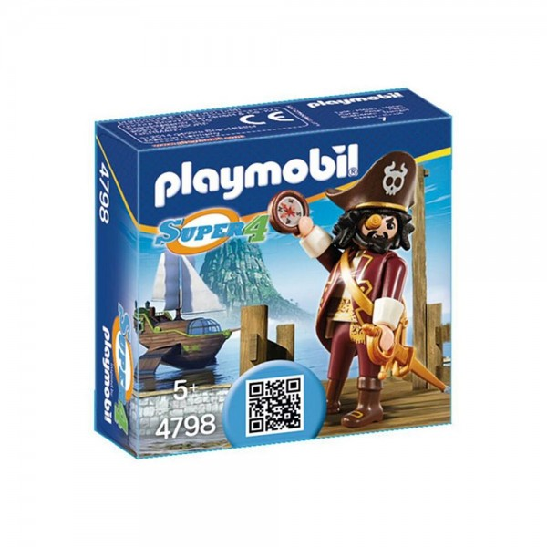 4798 Playmobil Super 4 Sharkbeard