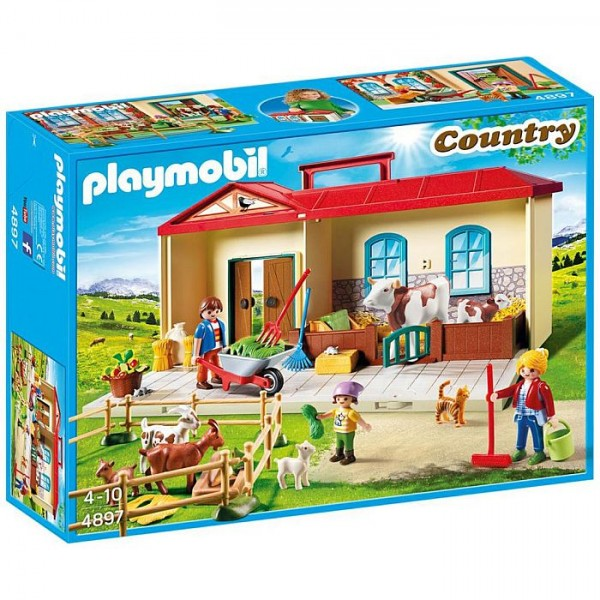 4897 playmobil meeneem boerderij for Transportables haus