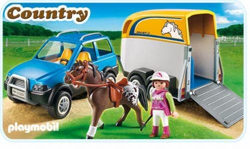5223 Playmobil Jeep met paardentrailer