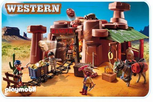5246 Playmobil Western - Goudmijn met dynamietkist