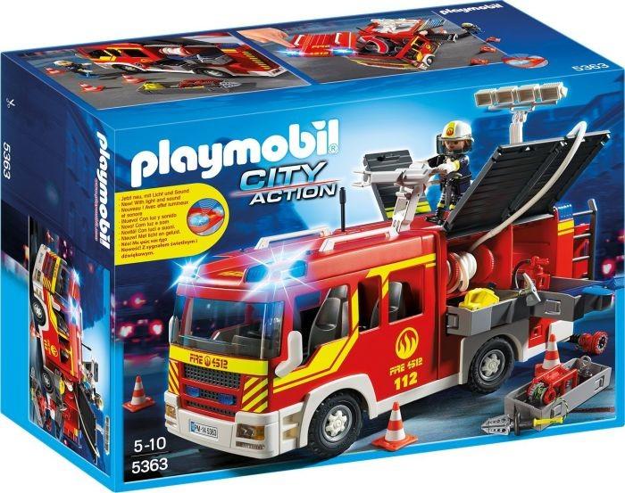 5363 Playmobil Brandweer Pompwagen met licht en geluid