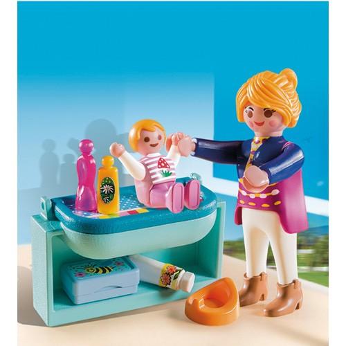 5368 Playmobil Mama met luiertafel