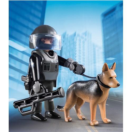 5369 Playmobil Special politieagent met speurhond