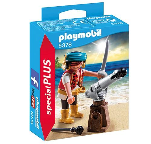 5378 Playmobil Piraat met bronzen scheepskanon