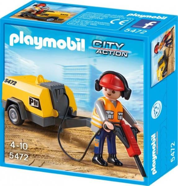 Playmobil Werkman + Boor 5472