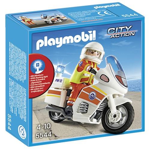 Playmobil City Action speelset Ambulancier op Motor 5544