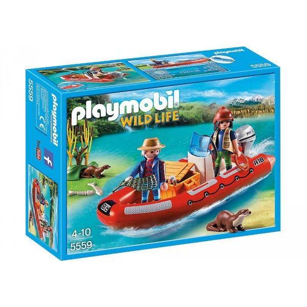 5559 Playmobil Rubberboot met Stropers