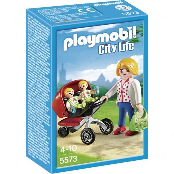 5573 Playmobil Tweeling Kinderwagen