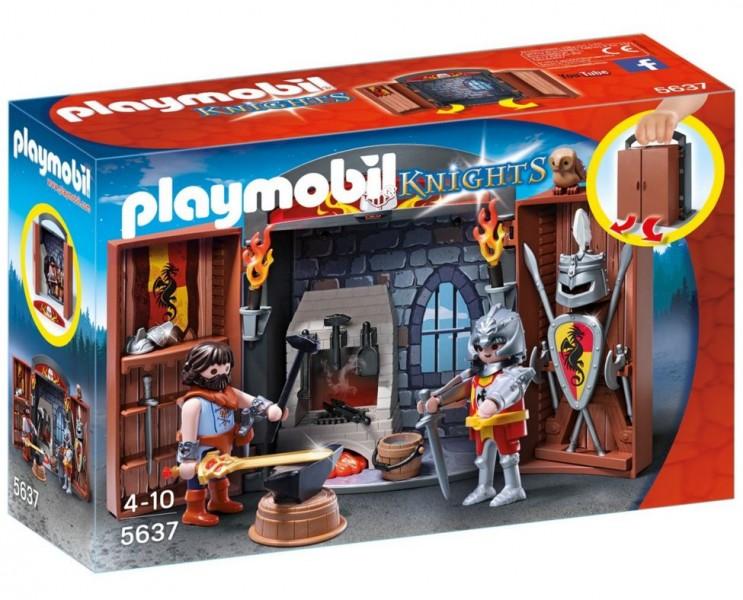 5637 Playmobil speelbox ridder en smid