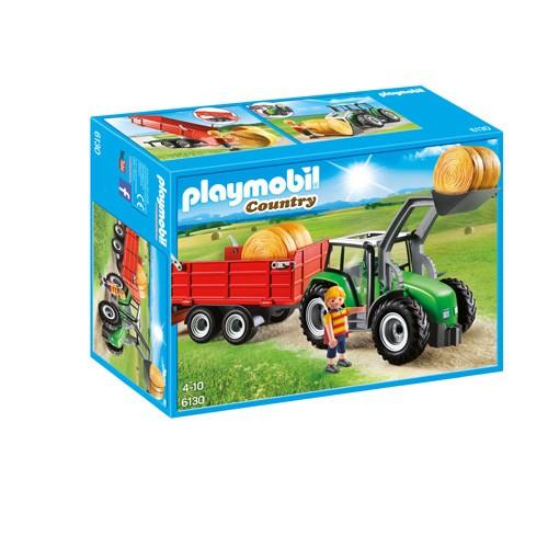 6130 Playmobil Tractor met aanhanger