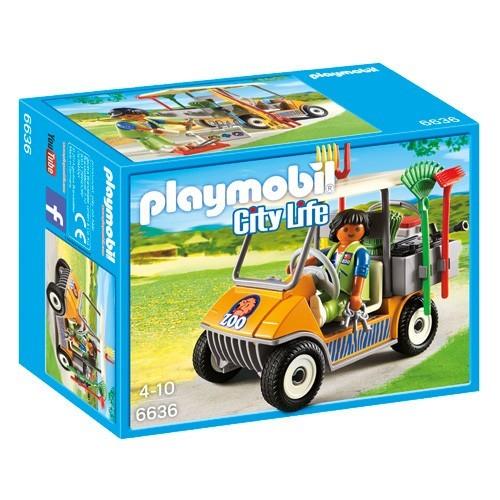 6636 Playmobil Dierenverzorger met voertuig