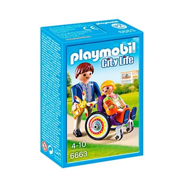 6663 Playmobil Kind In Rolstoel