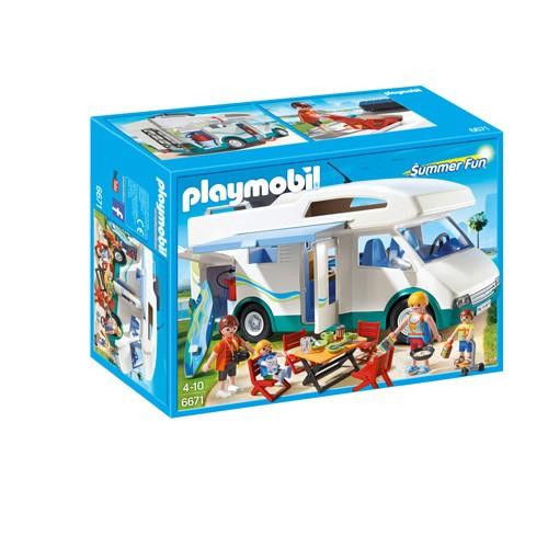 6671 Playmobil Grote Familiecamper