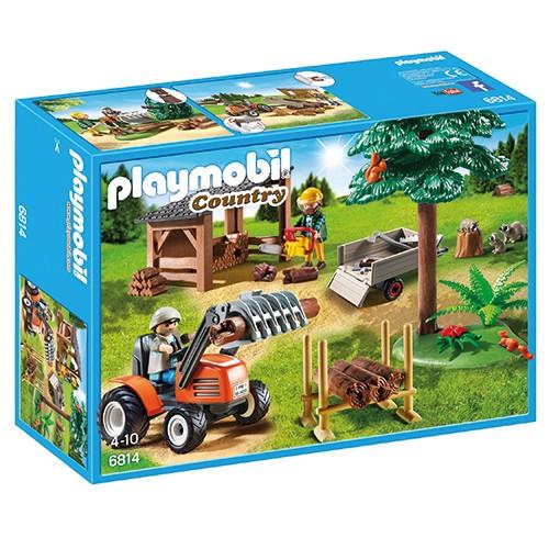 6814 Playmobil Houthakker met tractor