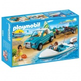 6864 Playmobil Pick-up met speedboot