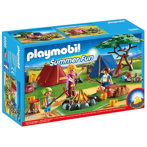 6888 Playmobil Tentenkamp met Kampvuur