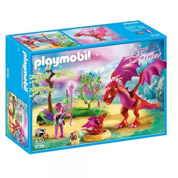 9134 Playmobil Drakenhoeder Met Rode Draken