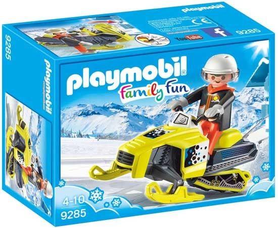 PLAYMOBIL Family Fun: Sneeuwscooter geel 13 x 7 x 5,5 cm