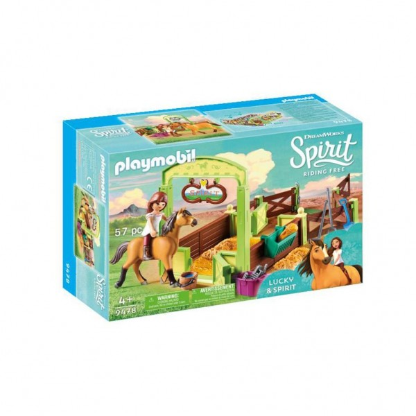 9478 Playmobil Lucky & Spirit Met Paardenbox