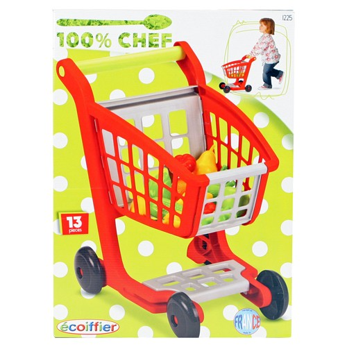 coiffier 100% Chef: winkelwagen rood 42 x 30 x 42 cm