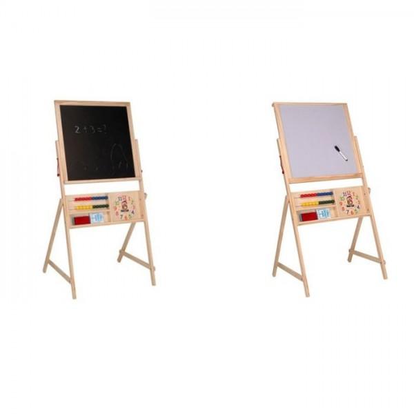Schoolbord hout 2 in 1