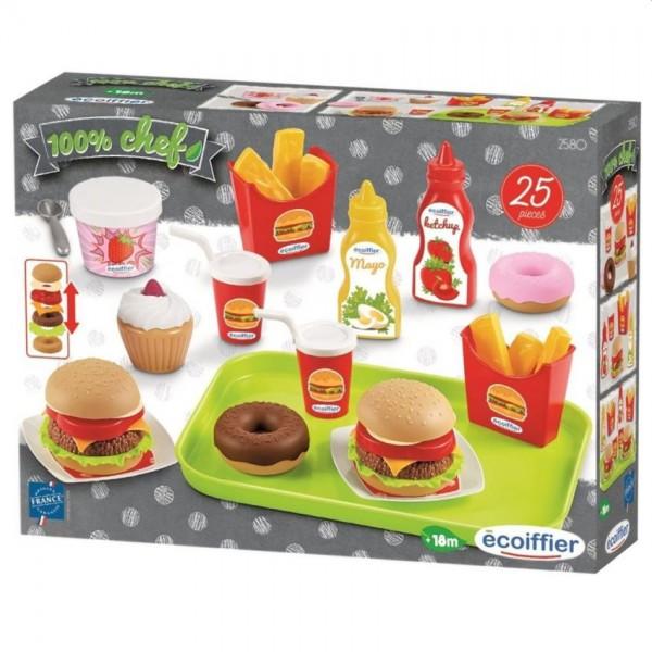 Voedsel- en Snackset op Dienblad 25-Delig