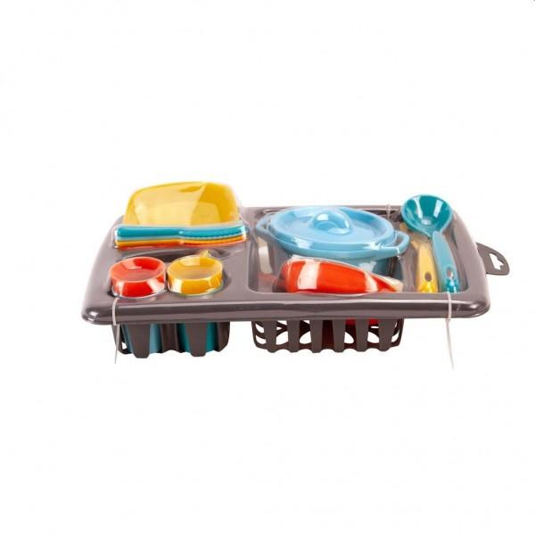 Speelgoed Afdruiprek met Servies