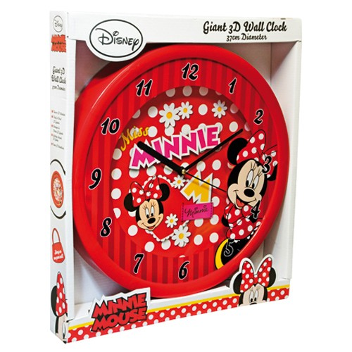 Minnie Mouse Wandklok 3D Disney