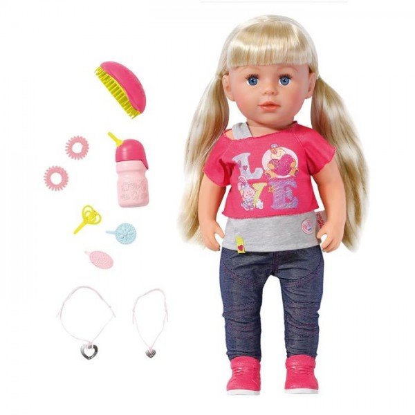 Zapf Creation Baby Born pop Interactief Zusje roze 43 cm