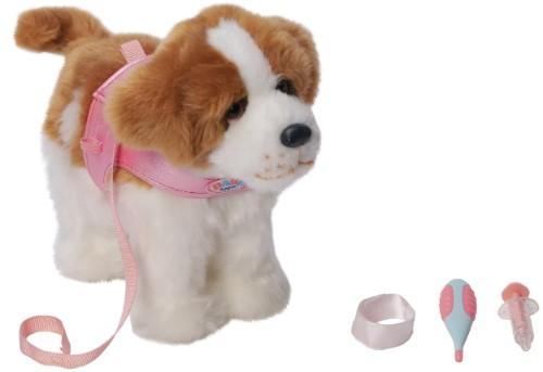 Baby born lopende hond sint bernard