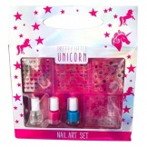 Make-Up Nailart Set met Stickers Unicorn