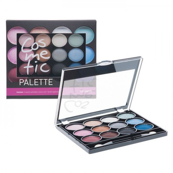 Casuelle Eyeshadow Compact Met 12 Kleuren En Applicator