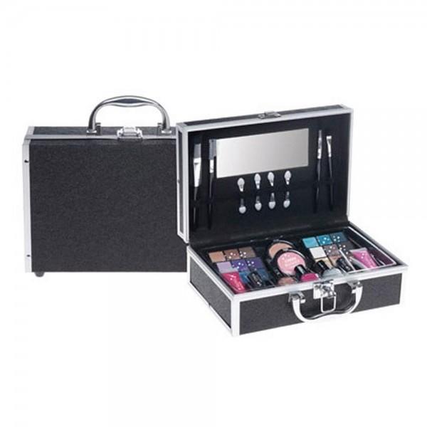 Casuelle Make-Up Set Zwart Glitter Koffer