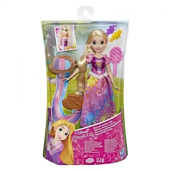 Hasbro Disney Princess tienerpop Rapunzel regenbooghaar 28 cm
