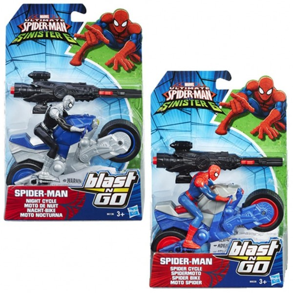 Spiderman Speelfiguur Blast 'n' Go Racers