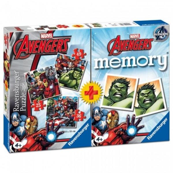 Spel Avengers Memory + 3 Puzzels